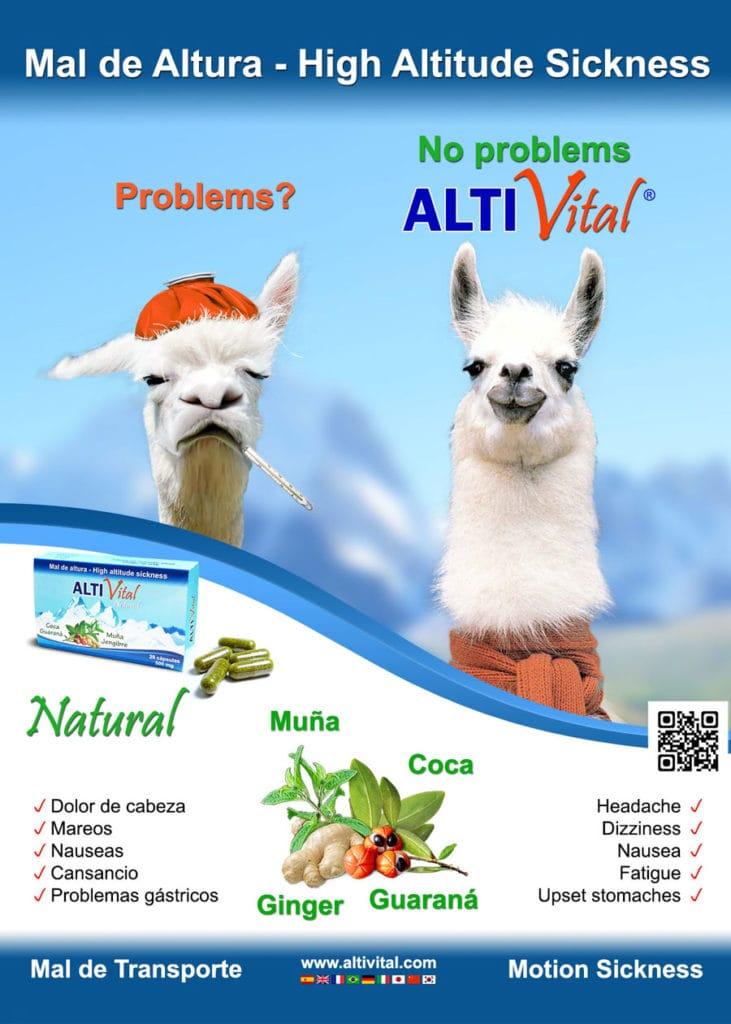 Banner de Altivital para el mal de altura durante tu viaje a Perú