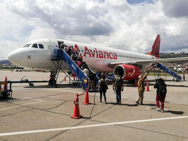 foto de un avión de Avianca