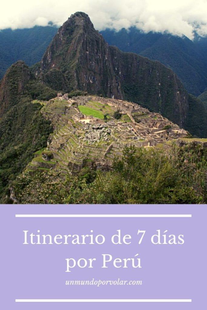 Itinerario de 7 días por Perú