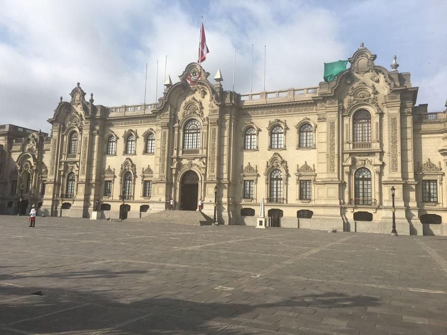 Palacio de Gobierno en la ciudad de Lima