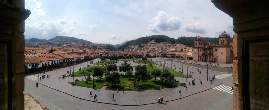 Panorámica de la Plaza de Armas de Cuzco
