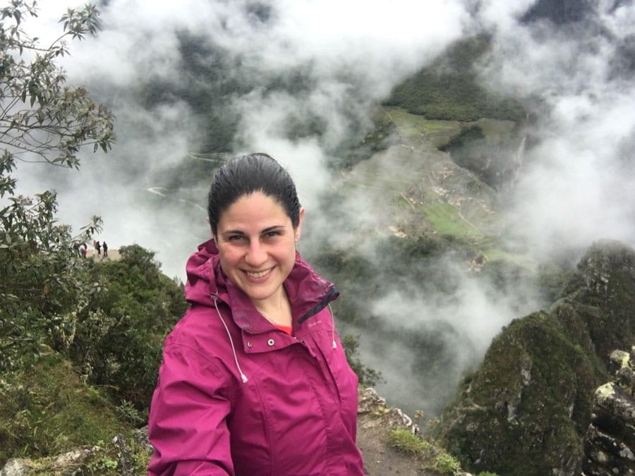 Arantza en Huayna Picchu