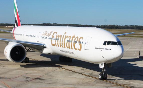 Avión para vuelos largos Boeing 777 de Emirates