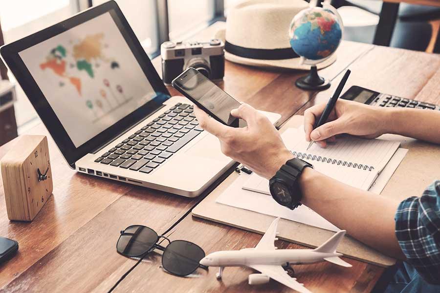 Tecnología para llevar durante un viaje