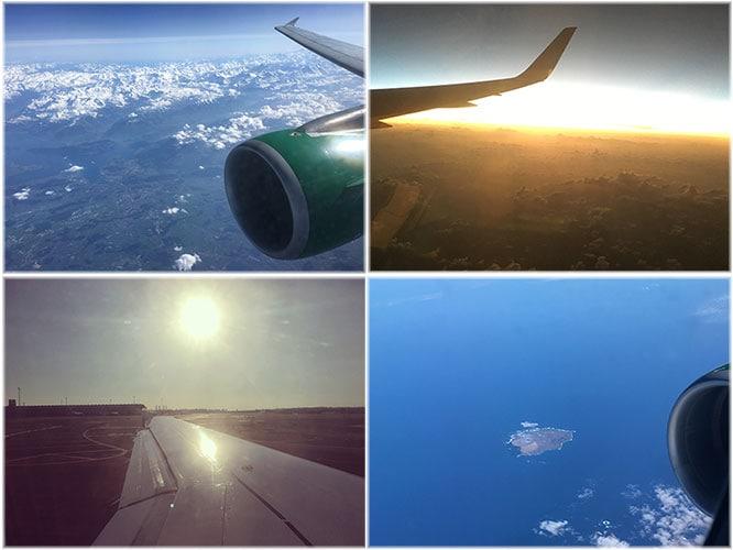 Vistas desde el avión