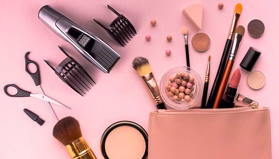 Maquillaje y afeitado apariencia perfecta