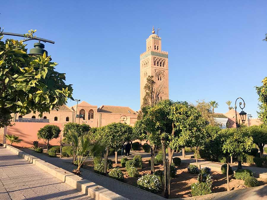 Mezquita Kutubia y sus jardines