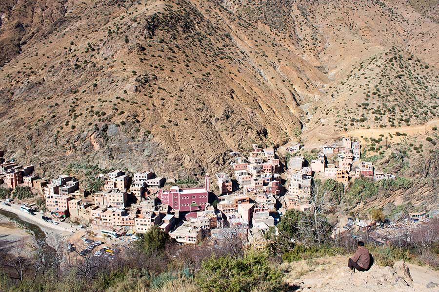Pueblo de Setti Fatma en el valle de Ourika