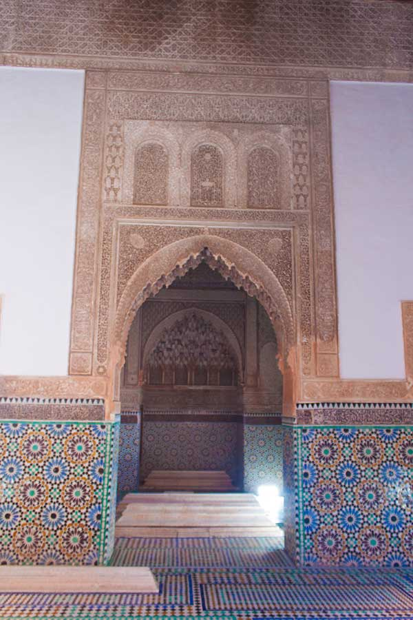 Tumba de Lalla Messouda en las tumbas saadíes