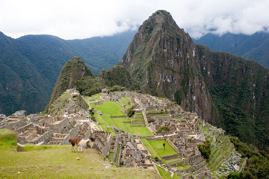 Foto de la ciudadela inca de Machu Picchu