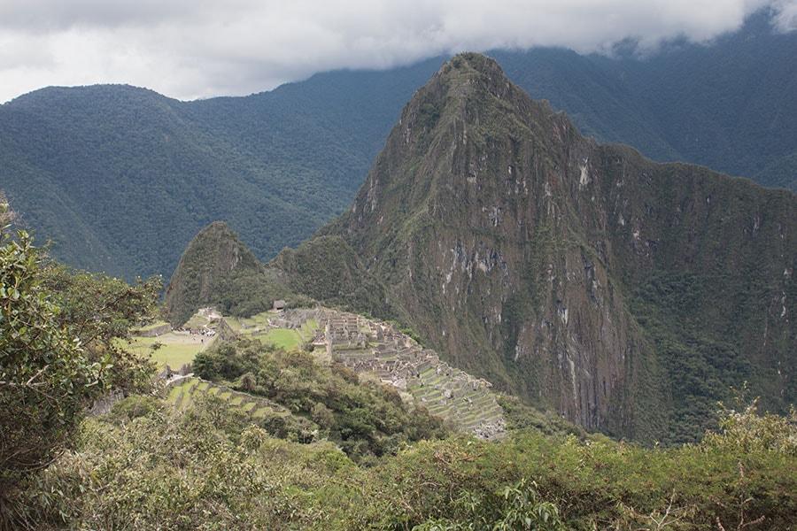 Foto de las vistas desde Intipunku a la ciudadela de Machu Picchu