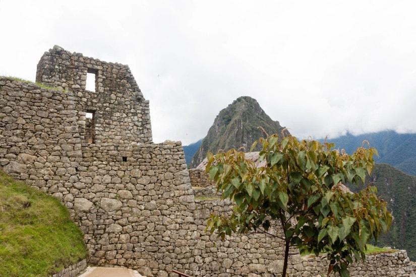 Foto de la Casa del Guardián en Machu Picchu