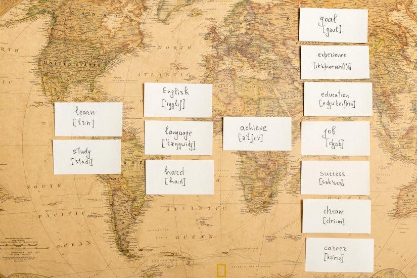 Foto de motivación para aprender nuevos idiomas para ser azafata