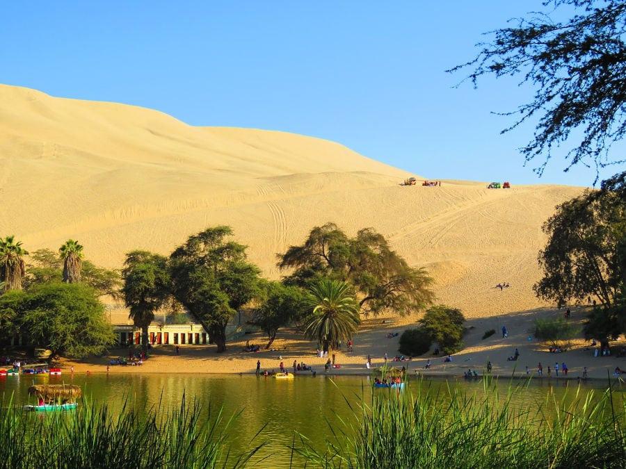 foto del oasis de Huacachina