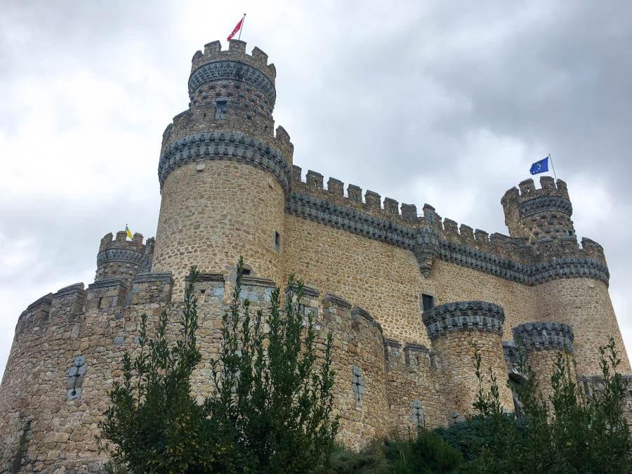 foto del Castillo de Manzanares el Real de cerca